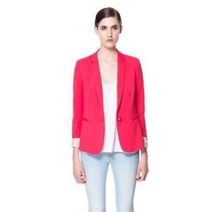 Zara Jackets & Coats - Zara Basic - Pink Blazer